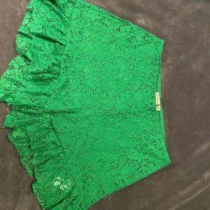 Zara high waist ruffle shorts